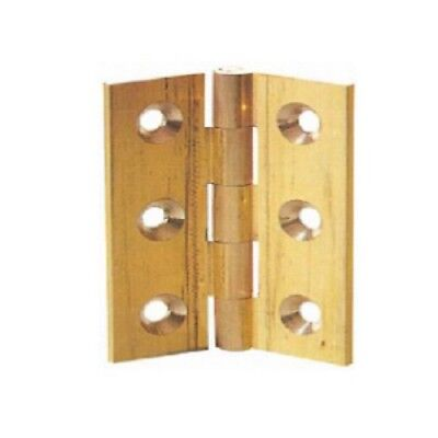 Solid Drawn Brass Butt Hinges 38,50,63,75,100mm - 1 pair & screws & pack 10 pair