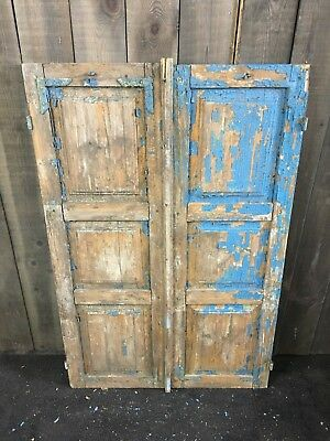 Vintage Wooden French Window Shutters