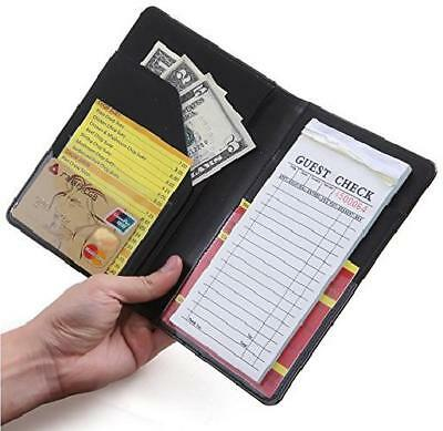Waiter Waitress Book Server Wallet Pad Organizer Money Pocket Check Holder Black