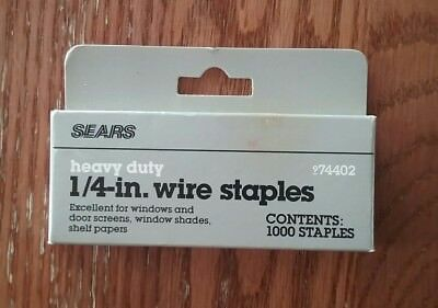 "Sears Craftsman Heavy Duty 1/4"" Wire Staples #74402"