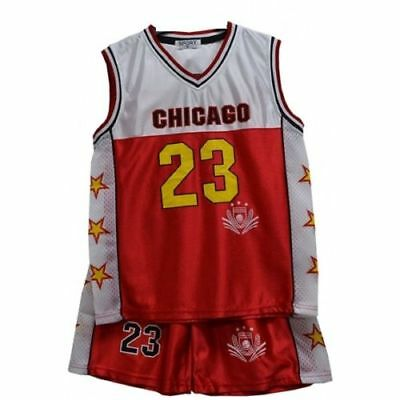 2018 Basketball Summer Shorts Boys Chicago Girls Top Kit Set Size Age 2-13 Years