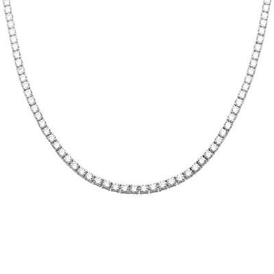 Made with Swarovski Crystal 42.00 CTTW Tennis Necklace