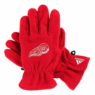 NHL Detroit Red Wings adidas Authentic Fleece Gloves Unisex