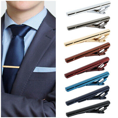 b230cd7ef0e5 8X Men Metal Man Plain Stainless Steel Necktie Tie Clip Pin Clasp Clamp Bar  Tool