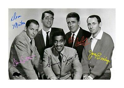 Rat Pack A4 reproduction autograph photograph picture poster choice of frame