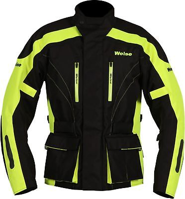 Weise Hornet II Black Yellow HiViz Motorcycle Motorbike Jacket Medium RRP£189.99