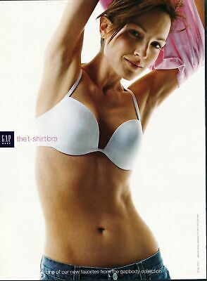 Print Ad~2003~Gap Body The T-Shirt Bra~Brunette~G300