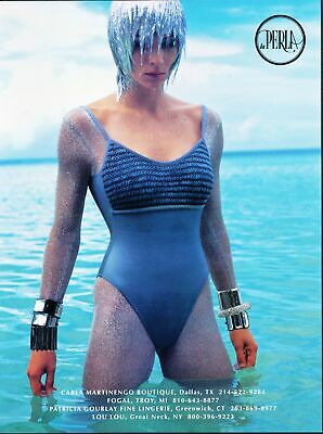 Print Ad~2000s~La Perla~Futuristic~Fashion~Bathing Suit / Swim~G300