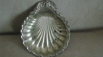 Vintage Silver Plated Clam Shell Plate