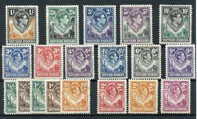 Northern Rhodesia 1938-52 short set to 10s SG25/44 (exc SG29) MM cat £174