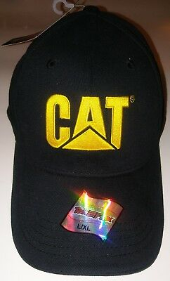 CAT Caterpillar Fitted Hat Cap Tek Flex L/XL NEW WITH TAGS NWT