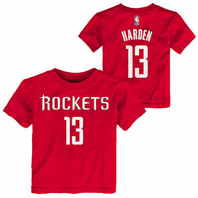 cb2ee5e6c NBA Houston Rockets James Harden Name   Number T Shirt Top Toddler Infant  Baby