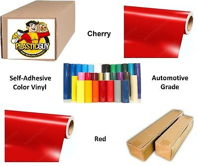"""24"""" x 55yd Cherry Red Oracal 651 Graphic Sign Cut Vinyl (Private Label)"""