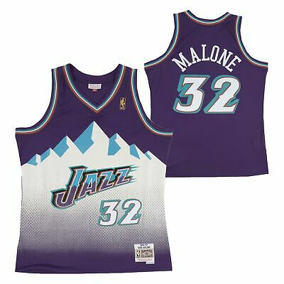 92d0b50bd NBA Utah Jazz Karl Malone Hardwood Classics Road Swingman Jersey Shirt Top  Mens