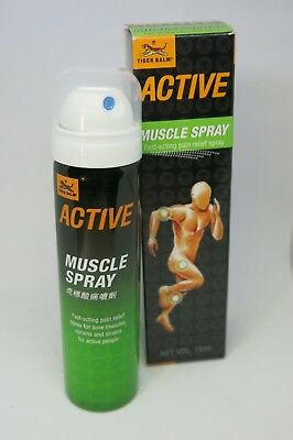Tiger Balm Active Muscle Spray Fast Acting Pain Relief Spray 75ML