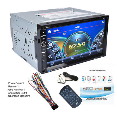 "Bluetooth 6.95"" 2 DIN HD Auto Android Stereo Radio DVD AUX MP3 Lettore GPS IT"