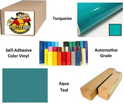 """24"""" x 55yd Turquoise Blue Oracal 651 Graphic Sign Cut Vinyl (Private Label)"""