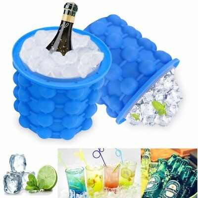 Ice Cube Maker Genie Silicone Ice Bucket Space Saving Ice Cube Tray Kitchen Tool