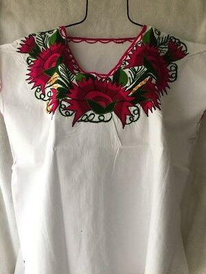 01aad5b737757 MEXICAN BLOUSES EMBROIDERED From Chiapas Handmade Large -  21.00 ...
