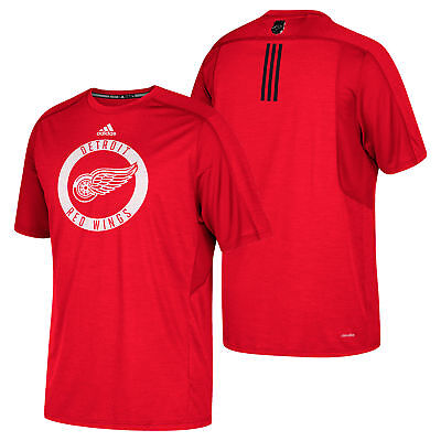 NHL Detroit Red Wings adidas climalite Authentic Training T Shirt Mens