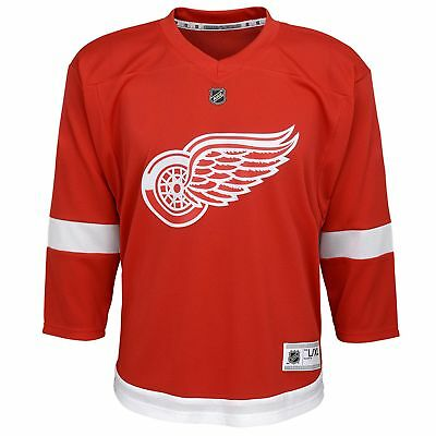 NHL Detroit Red Wings Home Jersey Shirt Top Youth Kids Fanatics