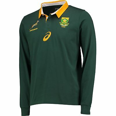 RUGBY South Africa Home Classic Shirt Top 17 18 Long Sleeve Green Mens