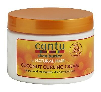Cantu Shea Butter for Natural Hair Coconut Curling Cream 12 oz Provides Intense