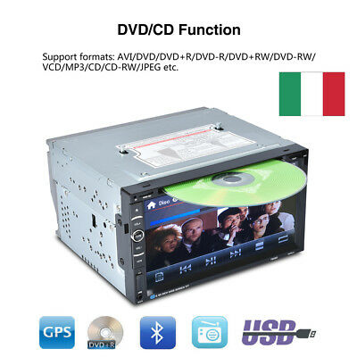 "Autoradio Din Car Stereo 6.95"" GPS DVD Player Auto Radio+ Telecamera SD Stereo"