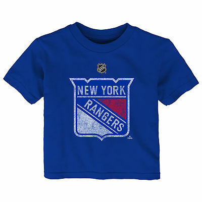 NHL New York Rangers Distressed Team Logo Short Sleeve T Shirt Top Infant & Baby