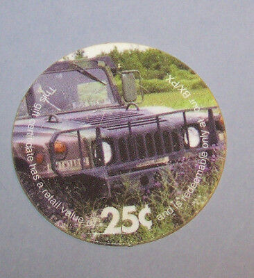 2M25 HUMVEE  2 nd Print 25 Cents AAFES Pog Extra Fne - About Uncir. Condtion