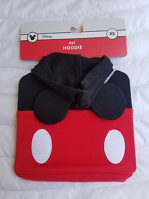 DISNEY Mickey Mouse DOG HOODIE/Costume - X-Small NEW
