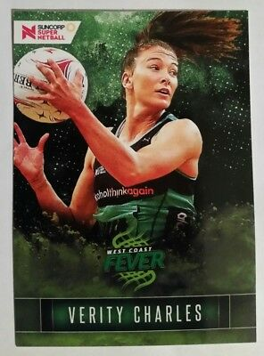 Suncorp Super Netball Trading Card Fever - 09 Veriety Charles