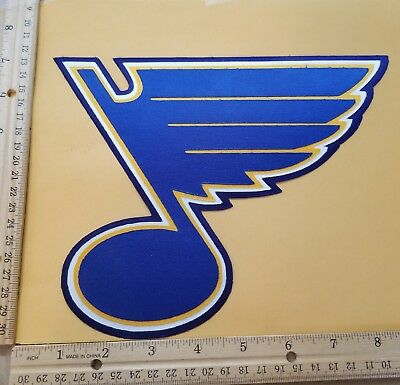 "HUGE ST. LOUIS BLUES IRON-ON PATCH - 7"" x 8"""