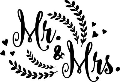 Mr. and Mrs. vinyl decal sticker pinterest words lettering