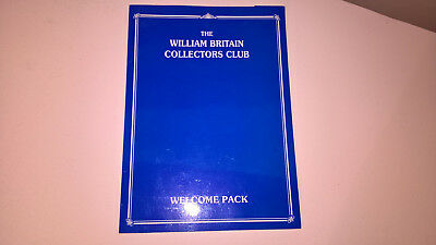Collectable The William Britain Collectors Club Welcome Pack Inc Metal Modeles