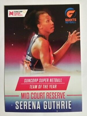 SSL Netball Trading Card - Team of the Year SSNA-09 - Serena Guthrie