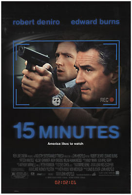 15 Minutes 2001 27x40 Orig Movie Poster FFF-69455 Rolled Robert De Niro