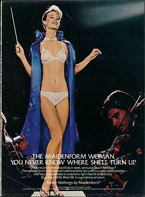 Print Ad~1982~Maidenform~Sweet Nothings~Symphony Conductor~G300
