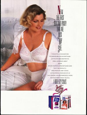 843819dd2233d 1990 JUST MY Size Bras and Panties Vintage Magazine Ad Sexy Woman ...