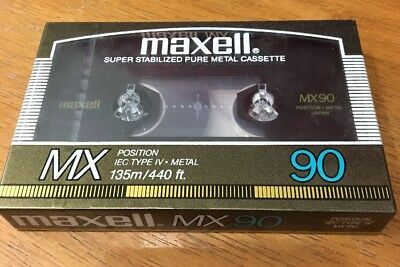 NEW Maxell MX90  IEC TYPE IV Pure Metal Cassette Tape SEALED Made in Japan RARE