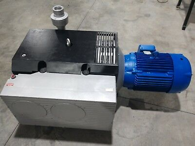 Elmo RIETSCHLE VC-700 ROTARY VANE VACUUM PUMP 25 HP and Solberg Filter