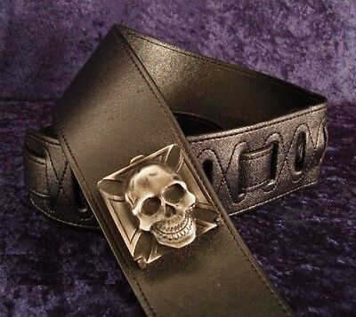 REBEL GUITAR STRAP METAL SKULL PICK BOX - SYNYSTER GATES of AVENGED SEVENFOLD