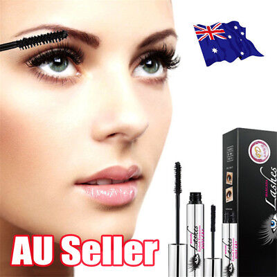 4D Silk Fiber Eyelash Mascara Extension Makeup Black Waterproof Kit Eye Lashes E
