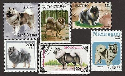 KEESHOND ** Int'l Dog Postage Stamp Collection ** Unique Gift **