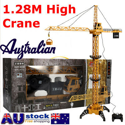 Toy Crane 128cm High Rise Tower Construction Crane Remove Control Indoor Outdoor