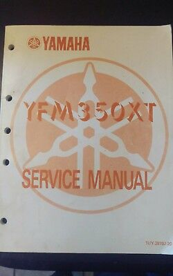 1987 87 Yamaha YFM350XT Warrior ATV Owner's Shop Service Repair Manual OEM
