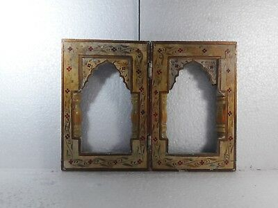 Vintage Very Old Hand Artwork Wooden Rare Photo Picture Frame #1