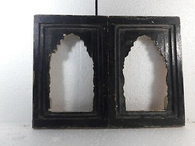 Vintage Very Old Hand Wooden Rare Photo Picture Frame #1