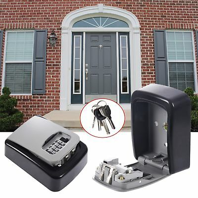 4 Digit Security Wall Mounted Key Safe Box Code Secure Lock Storage Home Outdoor