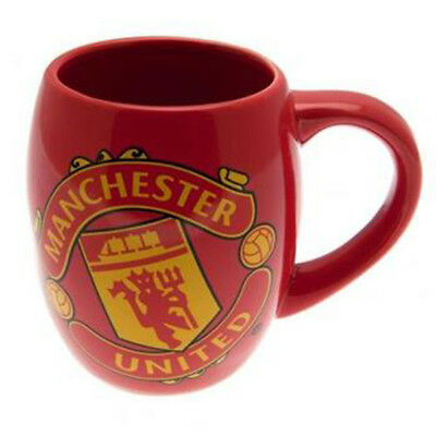 Manchester United Fc Tea Tub Mug Cup Coffee Ceramic In Clear Gift Pack New Xmas